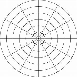 6 grid graph paper polar grid in degrees with radius 6 clipart etc