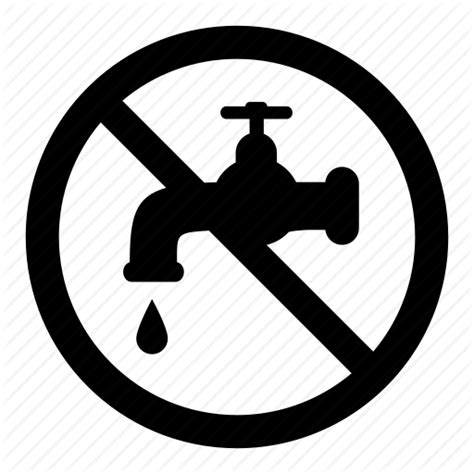Drop, No, Prohibition, Signs, Tab, Warning, Water Icon