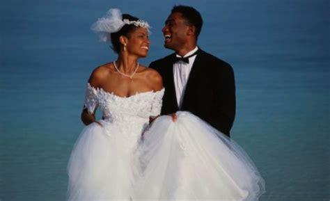 black married couple a wedding club