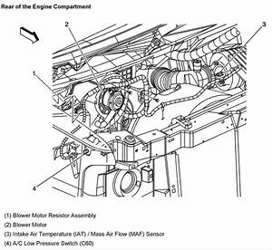 where is the blower motor resistor located on 2004 chevy With of blower motor blower switch blower motor resistor ac switch
