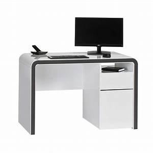 Pc Tisch Groß : pc tisch in wei grau sketto ~ Lizthompson.info Haus und Dekorationen