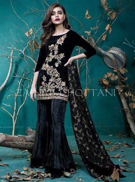 zainab chottani velvet dress  pakistani dresses