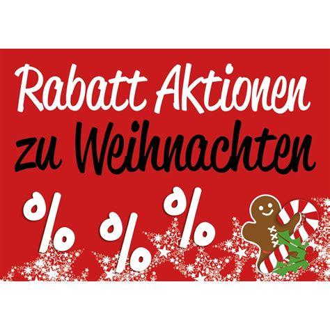 weihnachtsplakat poster quot weihnachtsrabatte quot querformat 7 9