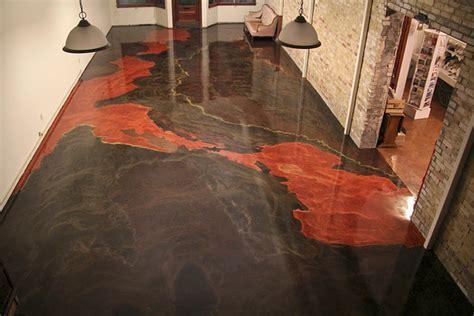 For Art's Sake!: A Metallic Epoxy Concrete Floor in a