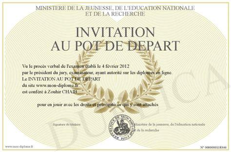 invitation au pot de depart