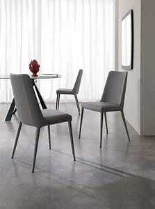 Chaise Design Contemporain : chaise cuir sofia ozzio espace steiner design contemporain ~ Nature-et-papiers.com Idées de Décoration