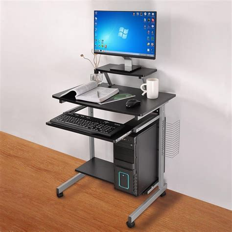 computer desks for mobile computer desk compact student laptop cart rolling