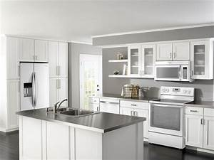 black and white kitchen decor contemporary kitchen ideas With kitchen cabinets lowes with nude woman wall art