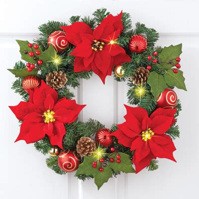 how to make a christmas yard poinsettia lighted lighted poinsettia evergreen wreath from collections etc