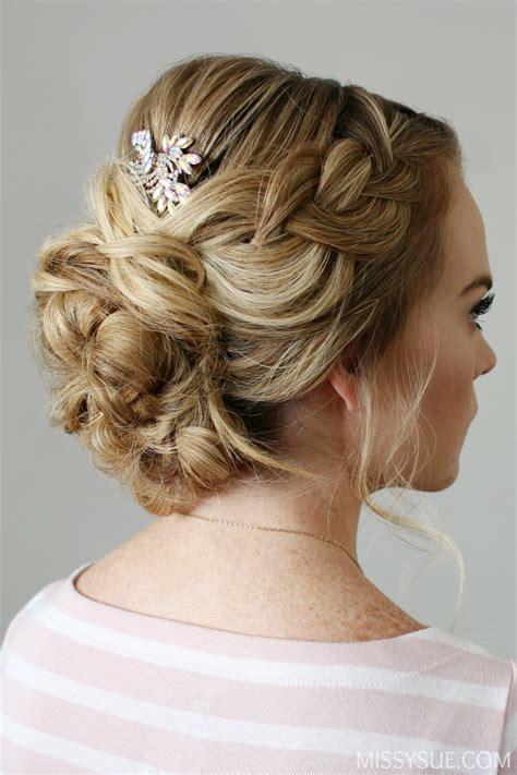 braid embellished updo missy sue hair plaits