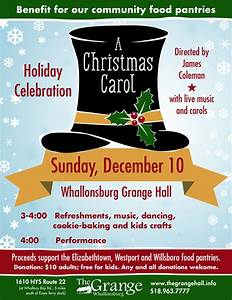 """""""A Christmas Carol"""" Performance at the Grange to Benefit ..."""
