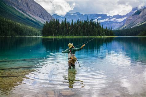 fishing banff lake alberta marvel captivating louise huckberry spots still andy withstands wildlife elements adventure photographer wild film create lead
