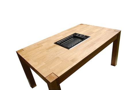 table with grill built in jaroslaw szkyrpan entertaining korean bbq grill bbq