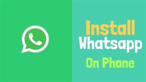 how to install whatsapp android phone 2018 youtube