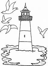 Lighthouse Coloring Pages Around Gulls Printable Fly Drawing Light Print Lighthouses Colouring Drawings Coloriage Patterns Painted Visit Mosaic Stamps Plage sketch template