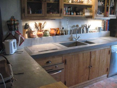 fabriquer sa cuisine en beton cellulaire 17 meilleures idées à propos de comptoirs de cuisine en