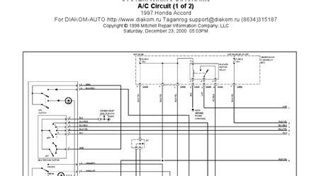 1997 Honda Accord Diagram 1997 honda accord a c circuits system wiring diagrams