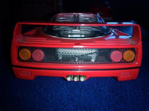 By burago;1:18 scale diecast, red; Diecast model Ferrari F40 1/24 Franklin Mint