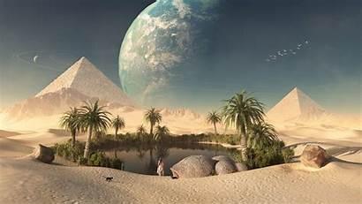 Oasis Desert Egypt Wallpapers Pyramids Desktop Android