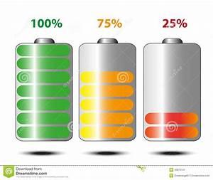 Batteriets Livsl U00e4ngd Vektor Illustrationer  Illustration Av Indikerat