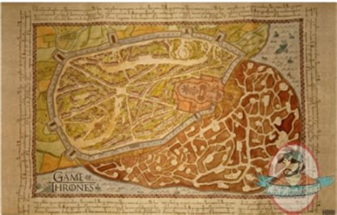 game  thrones kings landing map poster  song  ice