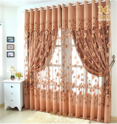 free shipping ready made tulle curtains for living room
