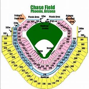 Map Directions Seating For Chase Field In Phoenix Az