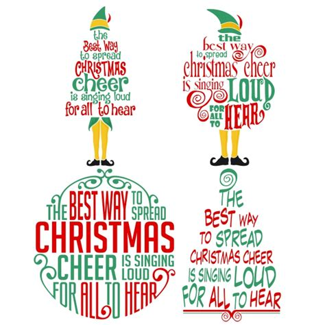 How to make a svg christmas ornament for free? Christmas Cheer Elf Christmas Cuttable Design