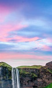 Iceland | Waterfall, Cool wallpapers for phones, Phone ...