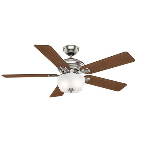 52 brushed nickel ceiling fan casablanca utopian 52 in indoor brushed nickel ceiling