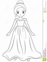 Coloring Wearing Gown Pages Template Sketch Useful Illustration Child sketch template