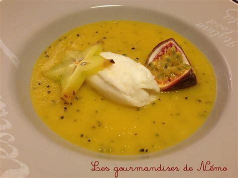 soupe de mangue sorbet citron les gourmandises de n 233 mo