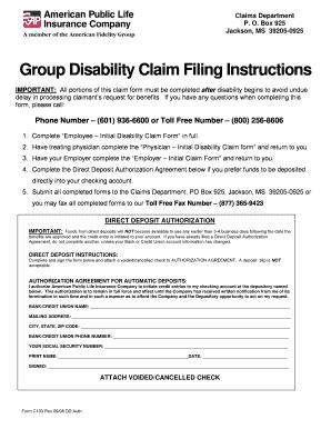 Seeking a flexible life insurance policy that can address your individual needs from personal, to family to charitable giving? American Public Life Claim Form - Fill Online, Printable, Fillable, Blank | PDFfiller