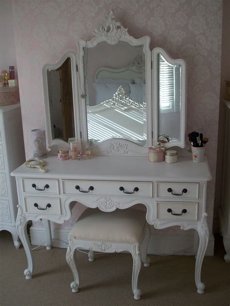 shabby chic makeup vanity table shabby chic vintage vanity table with three wooden mirror frame with old white carved furnishing