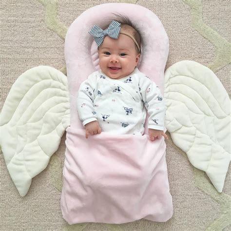 pink angel pillow baby girl newborn photography