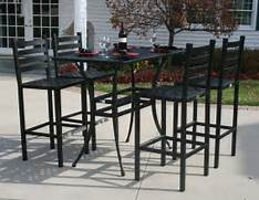 Patio Furniture Pub Table Sets by Ansley Luxury 4 Person All Welded Cast Aluminum Patio Furniture Bar Height Set