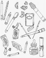 Coloring Supplies Fun Drawing Pages Supply Sunday Da Cafe sketch template