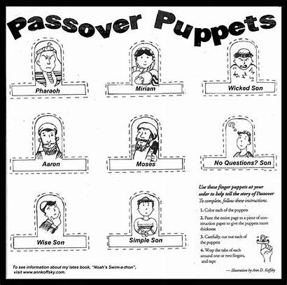 Passover Coloring Puppets Activity Crafts Children Pages