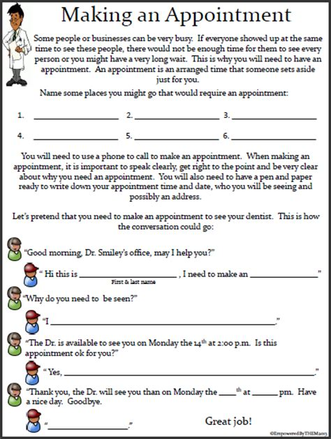 empowered by them life skills worksheets