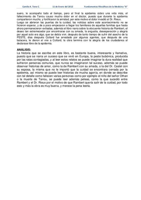 La Peste Resumen Corto by Resumen La Peste Albert Camus