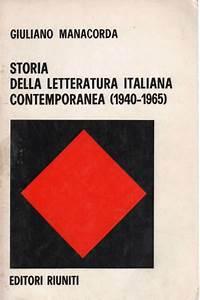Storia Della Letteratura Italiana Contemporanea  1940