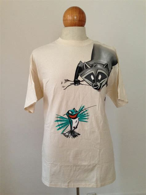 pocahontas double sided adult xl  shirt meeko flit nos
