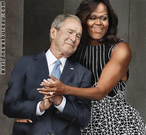 president gw bush robbed big hairy news