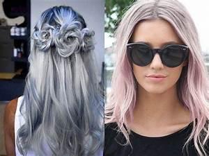 Couleur Cheveux Pastel : couleur cheveux gris pastel coiffures populaires 2019 ~ Melissatoandfro.com Idées de Décoration