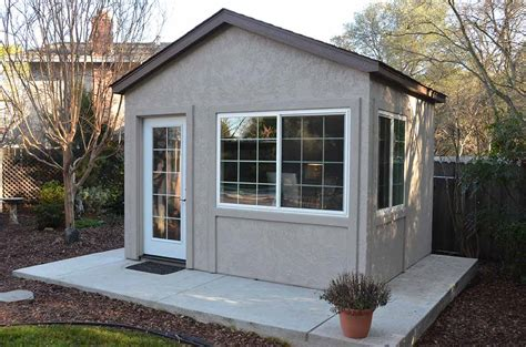 backyard outbuildings to business with this backyard office tuff shed