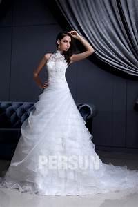 Robe De Mariée Moderne : robe de mari e moderne encolure ras de cou en organza ~ Melissatoandfro.com Idées de Décoration