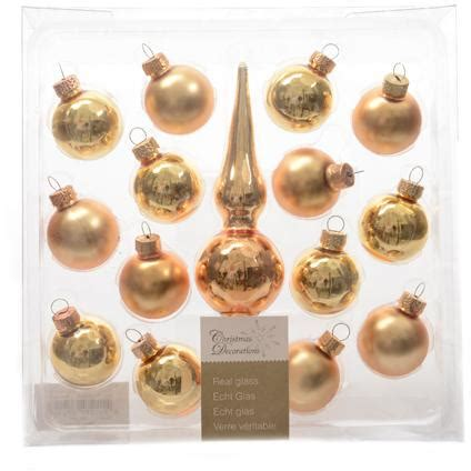 decoris set kerstballen met piek christmas decoration