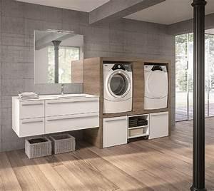 Lavanderia In Bagno Cose Di Casa Con Mobile Per Lavatrice