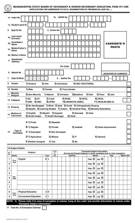 maharashtra board hsc registration  maharashtra board