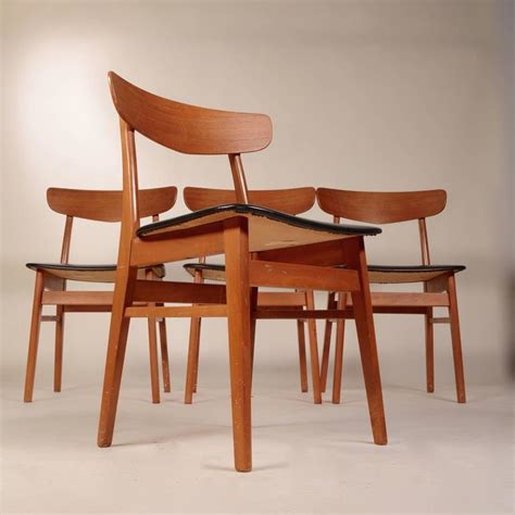 birch dining chairs set of four teak and birch dining chairs for 1660